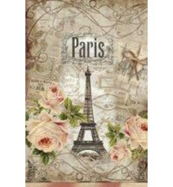"""Пакет для подарунка великий вертикальний """"Париж"""" 25х37 см   (6 шт/уп)"""