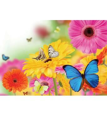 "Пакет для подарунка гігант горизонтальний ""Метелики на кольорах"" 46 х 33 см   (6 шт/уп)"
