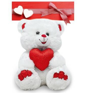 """Пакет для подарунка гігант вертикальний """"Ведмедик з серцем"""" 30х47 см   (6 шт/уп)"""