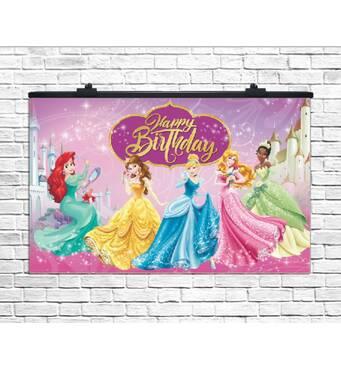 Плакат для праздника Принцессы, 75х120 см