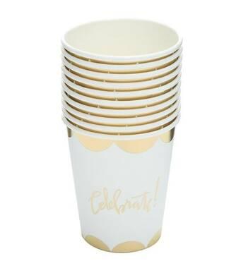 Скляночки паперові одноразові Celebrate! золото,10 шт