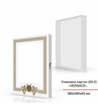 Упаковка для текстиля белая 380х285х50 мм с окошком
