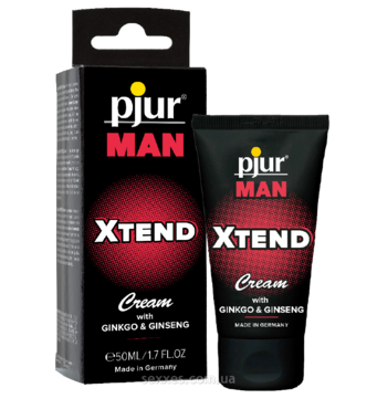 Крем для пениса стимулирующий pjur MAN Xtend Cream 50 ml, с экстрактом гинкго и женьшеня