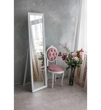 Зеркало напольное, зеркало в полный рост, 170х50 см, белое
