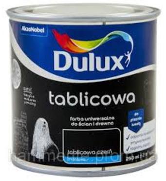 Акриловая краска Dulux для школьных досок матовая черная 0,25л.