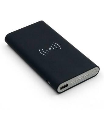 Универсальное зарядное устройство с беспроводной зарядкой QI Power Bank 10000 mAh Черный
