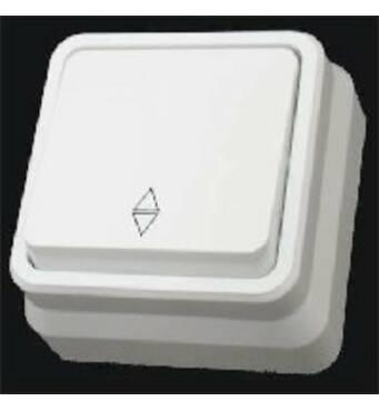 Misya вимикач прохідної 1-й зовнішній білий
