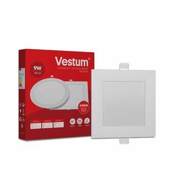 Світильник LED врізний квадратний Vestum 9w 4000k 220v