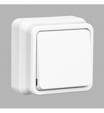 Misya вимикач 1-й зовнішній білий