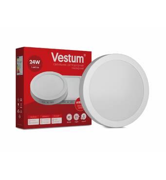 Світильник LED накладної круглий Vestum 24w 6000k 220v