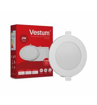 Світильник LED врізний круглий Vestum 3w 4000k 220v