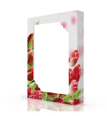 Упаковка картон (50-3), 380х285х50 мм, Тюльпан красный