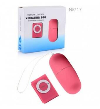 Беспроводное виброяйцо (вибропуля) с пультом MP3 Player (водонепроницаемый вибратор для женщин) розового цвета