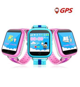 Детские умные GPS часы телефон трекер Smart Baby Watch Q750 c сенсорным экраном, Wi-Fi и играми (синие)