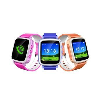 Детские умные часы телефон Smart Baby Watch Q80 c GPS и  сенсорным цветным экраном (розовые)