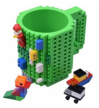 Чашка-конструктор SUNROZ з деталями в комплекті 350 мл Зелений (3779)