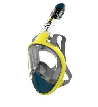 Маска для сноркелінгу TheNice F2 EasyBreath - III для дайвинга с креплением для камеры L/XL Желтый