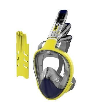 Маска для сноркелінгу TheNice F2 EasyBreath - III для дайвинга с креплением для камеры S/M Желтый