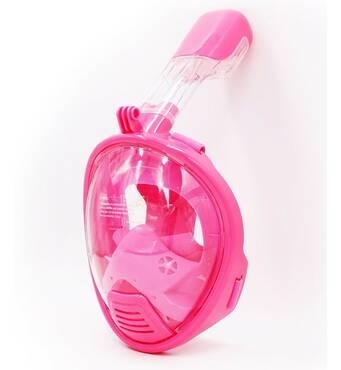 Детская маска для сноркелінгу TheNice K - 1 EasyBreath - III на все лицо для дайвинга XS Розовый