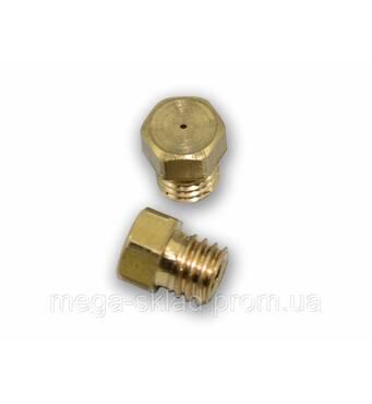 Жиклер для газових плит 6 мм (природний газ, велике різьблення) діаметр отвору 0,5 мм