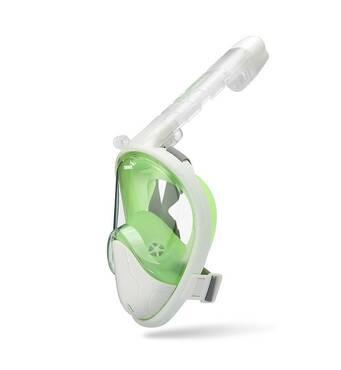Маска для сноркелінгу TheNice F2 EasyBreath - III для дайвинга с креплением для камеры L/XLБіло- Зеленый