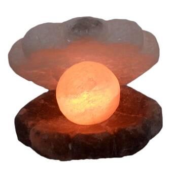 Соляний світильник перлова Скойка 6,2 кг ВЗ