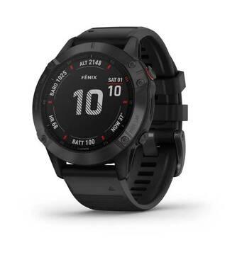 Спортивные часы Fenix 6 Pro черные с черным ремешком Garmin
