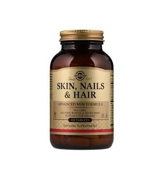 Пігулки для шкіри, нігтів, волосся Solgar №120