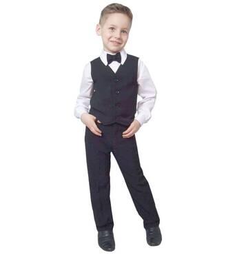 """Жилет для мальчика школьный  М-921  рост 98 104 110 116 122 128 134 140 и 146 тм """"Попелюшка"""" 116"""