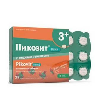 Пиковит Юник (Pikovit) таблетки жевательные KPKA №27