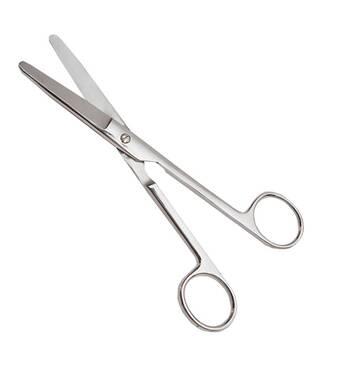 Ножиці по Mayo тупокінцеві прямі, довжина 17 см SURGIWELOMED