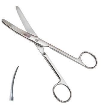 Ножницы по Mayo тупоконечные вертикально-изогнуты длина 17,0 см SURGIWELOMED