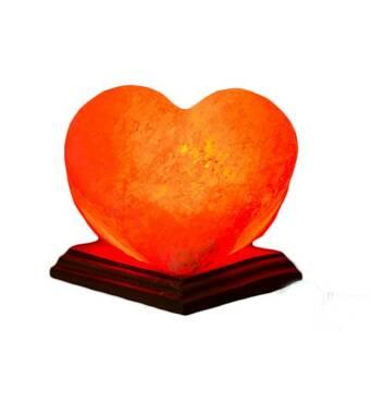 """Соляний світильник """"Серце яскраво-червоне"""" (2,4 кг) Планета солі"""