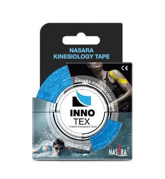 Кинезотейп синтетический Inno Tex 5 см x 5 м голубой Nasara