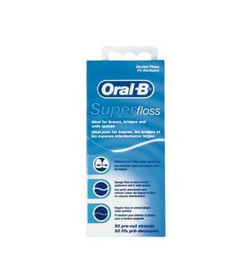 Зубна нитка ORAL - B Super Floss, що Вощиться, 50 м