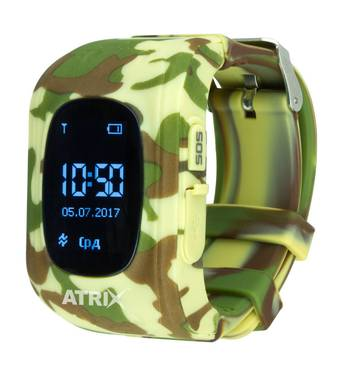 Розумний годинник дитячі Smartwatch iQ300 GPS ATRIX, що камуфлюють