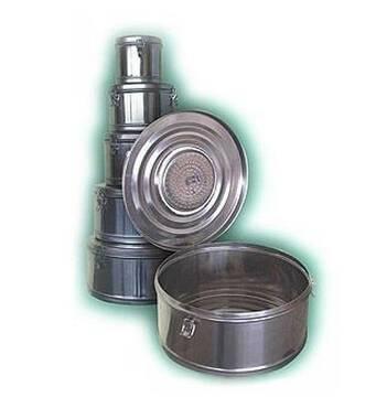 Коробка стерилізаційна кругла з фільтром КСКФ- 6 (6 дм3, 245мм) Біомед