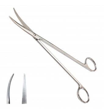 Ножиці по Metzenbaum, для розтину м'яких тканин, вертикально-зігнуті, з твердосплавом довжин.23,0 см S
