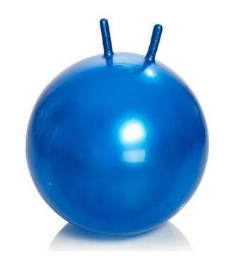 Гімнастичний м'яч з ріжками М- 365 (синій) 65 см Тривес