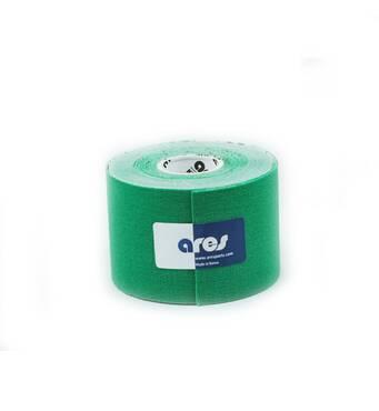 Кинезио тейп UNCUT 5смх5м зеленый ARES