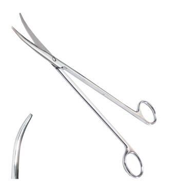 Ножницы для рассечения мягких тканей в глубокой полости, вертикально изогнутые длина 23 см SURGIWELOMED