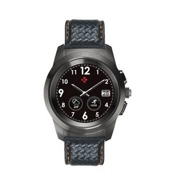 Смарт-годинник ZeTime Regular Premium (44мм) титаново-чорний/карбоново-помаранчевий MyKronoz