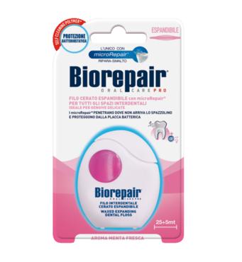 Зубний нитка-флосс Захист ясен, що розширюється, з гидроксиапатитом і гіалуроновою кислотою, 30 м Biorepair