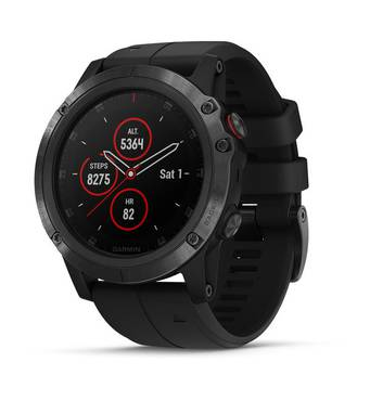 Спортивные часы 5X Plus Sapphire Black с черным ремешком Garmin