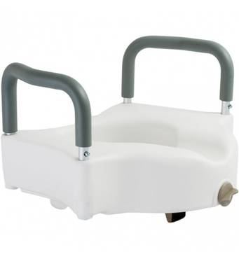 Туалетное сидение высокое с фиксатором 12205/В Dr.Life