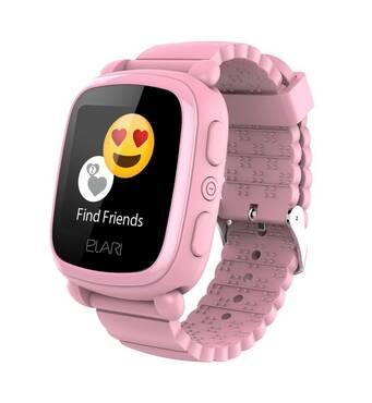 Смарт-часы детские KidPhone 2 Pink с GPS-трекером ELARI