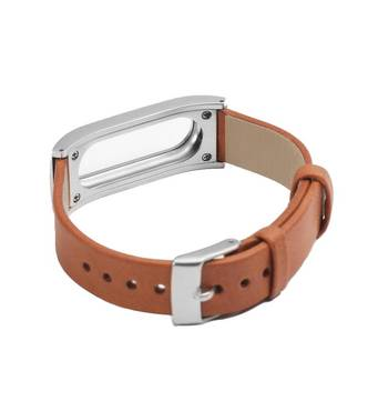 Ремінець для фитнес-браслета Mi Band Шкіра Brown Xiaomi