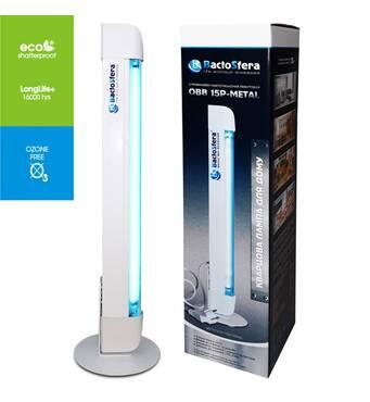 Бактерицидный облучатель BactoSfera OBB 15P-METAL лампа Philips безозоновая