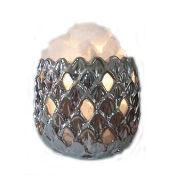 """Соляний світильник 2-го рівня Ананас кераміка ( 3,4 кг ) """"Ваше Здоров'я"""""""