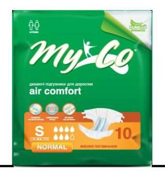 Подгузники MyCo Normal S (64-89 см) 10 шт